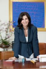 Roma 20 luglio 2012 Servizio posato Marcella Panucci direttore generale di Confindustria fotografata nel suo ufficio fotografie di Renato Franceschin