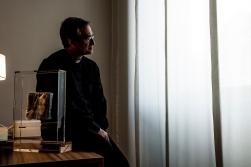 Roma 13 luglio 2016 Monsignor Dario Edoardo Viganò, primo prefetto della Segreteria per la comunicazione dello Stato Vaticano fotografato nel suo studio