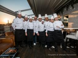Roma 20 aprile 2018 Hotel LaGriffe Ristorante Chef Andy Luotto e la sua brigata